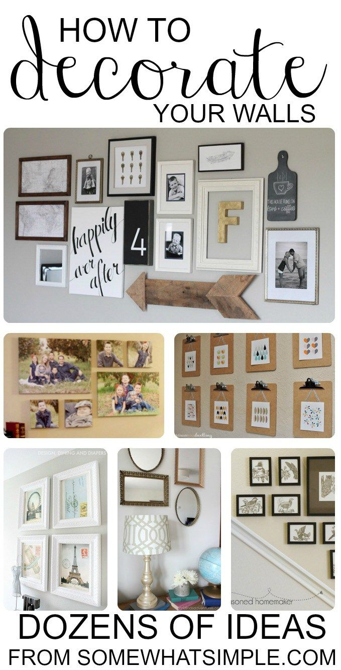 Wall Photo Collage dozens of diy wall hangings | walls, gallery wall and photo wall