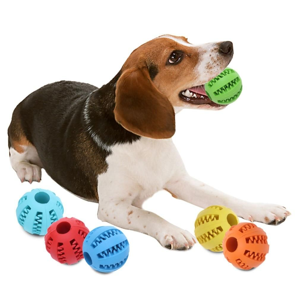 5 7 Cm Dog Toy Interactive Rubber Balls Pet Dog Cat Puppy