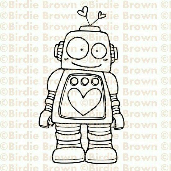 Robot Para Colorear Preescolar Robots Dibujo Dibujos Para