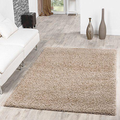 Shaggy Teppich Hochflor Langflor Teppiche Wohnzimmer Prei   - Teppich Wohnzimmer Braun