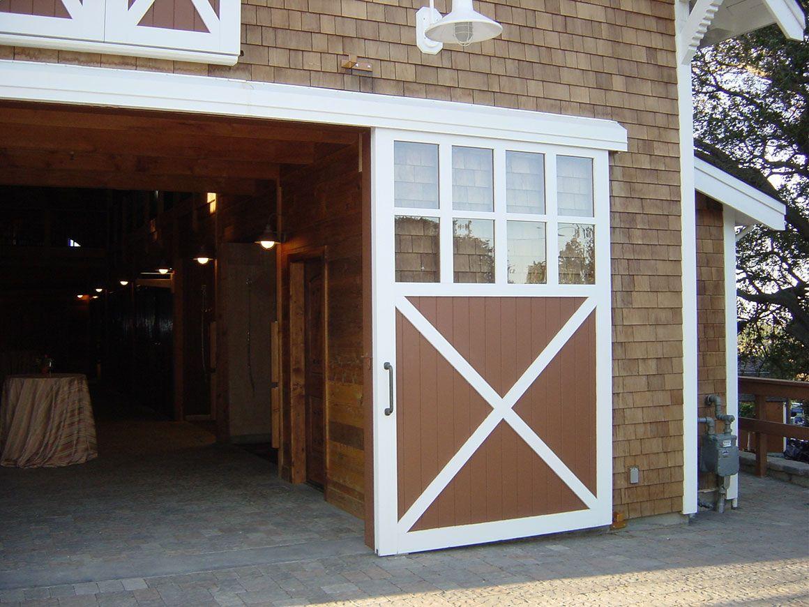 Barn Door Slider Cross Bars And Windows Barn Door Exterior Barn Doors Barn Door Sliders