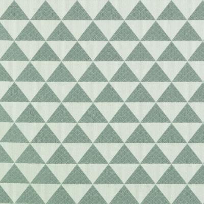 Multi Upholstery Drapery Fabric -  Turquoise Geometric Basketweave Fabric Pattern