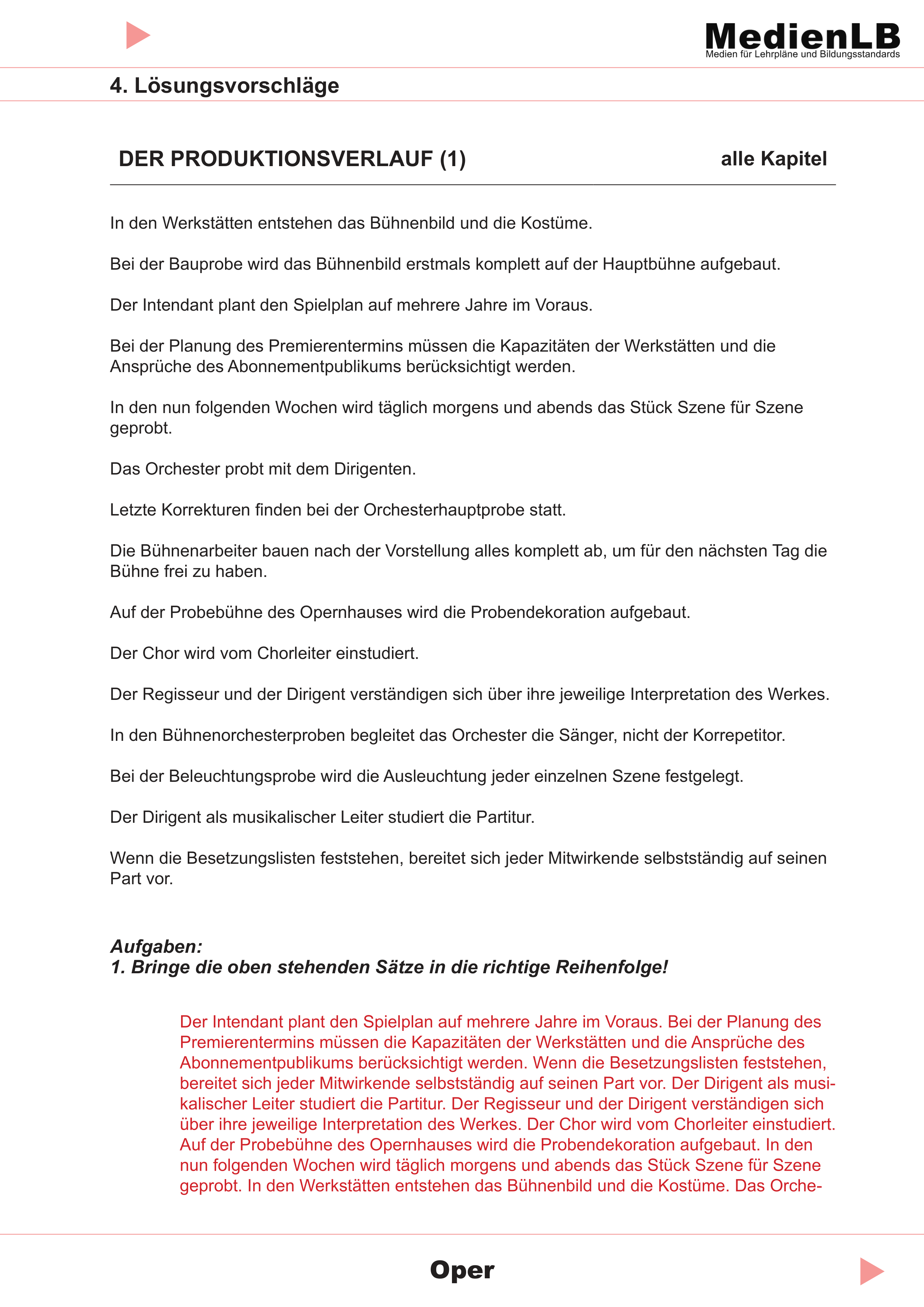Oper Losungsvorschlage Unterrichtsmaterial Im Fach Musik Oper Musik Dirigenten