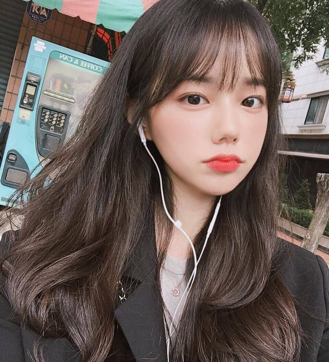 Ulzzang hair, Korean hairstyle, Ulzzang korean girl, Korean bangs