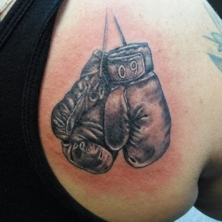 Tattoo Quotes Durban: Boxing Gloves Black And Gray Tattoo