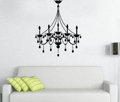 Vinyl wall art in white above dress up area