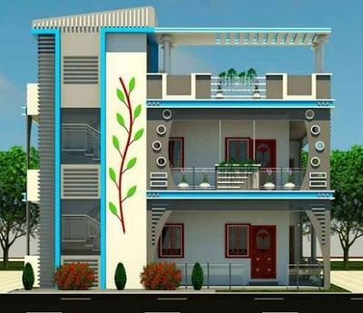 Modern House Front Design Ideas Exterior Wall Decoration Trends 2019 House Front Design Small House Elevation Design Small House Exteriors