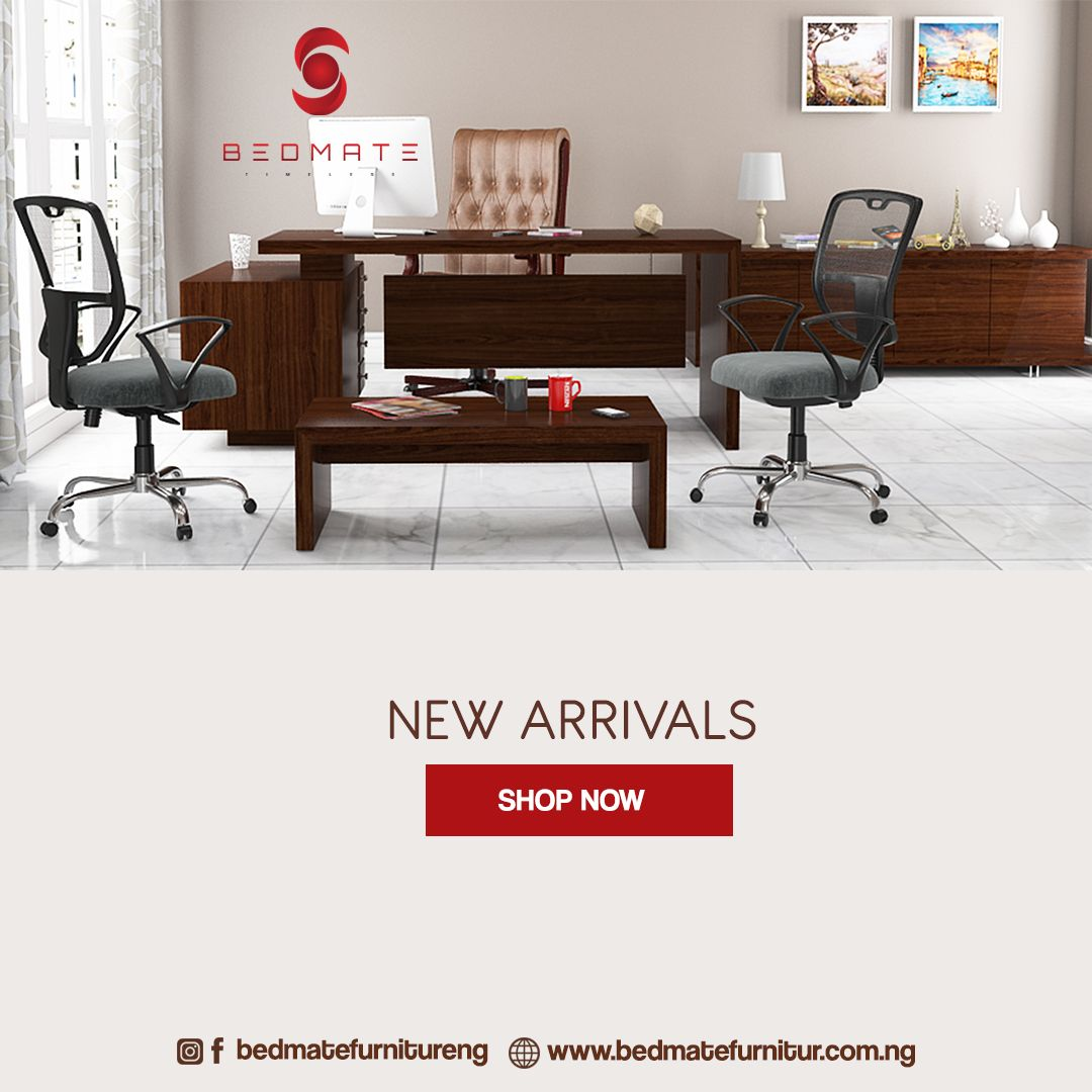 New sleek and beautiful office furniture. Hmmm. I love it