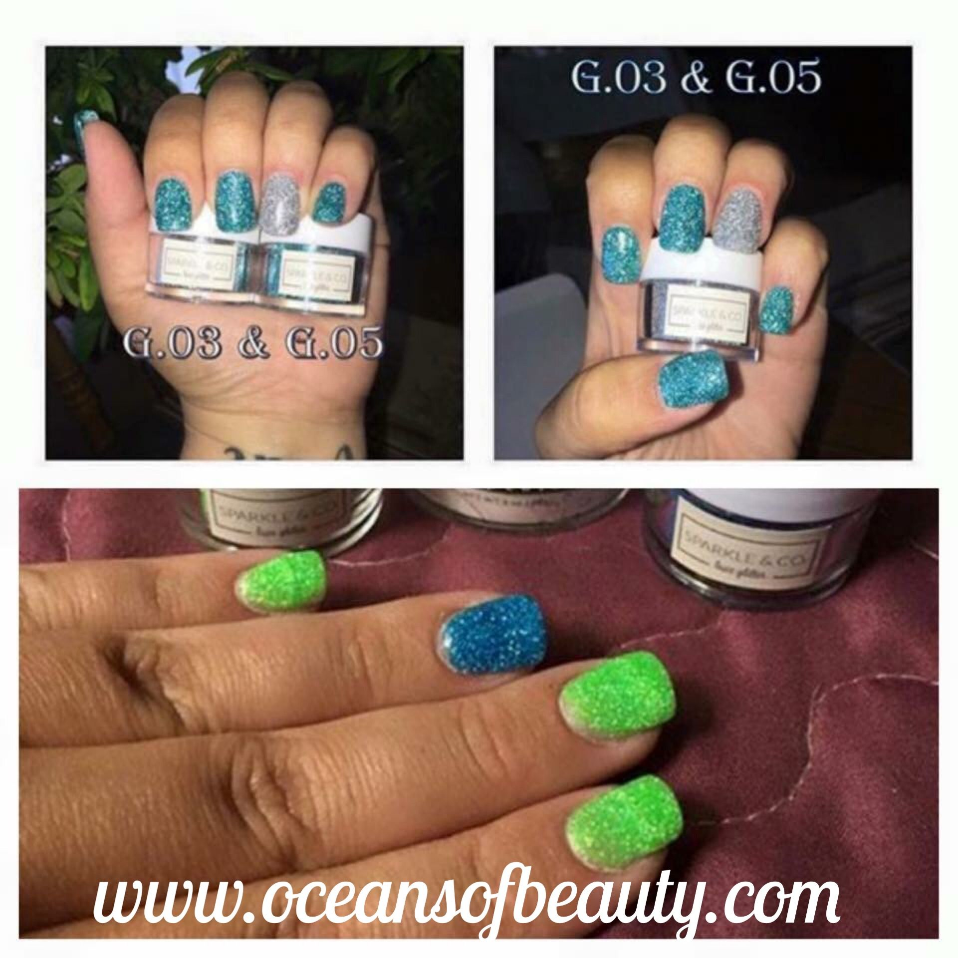 G.03 & G.05 from Sparkle & Co. mixed with Crystal Clear EZdip Gel ...