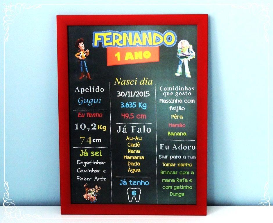 """""""Amigo estou aqui..."""" chalkboard super personalizado Toy story com moldura vermelha!!!  #danielatruvilhanofestas #chalk #chalkboard #chalkboardart #toystory #decoraçãotoystory #festatoystory"""