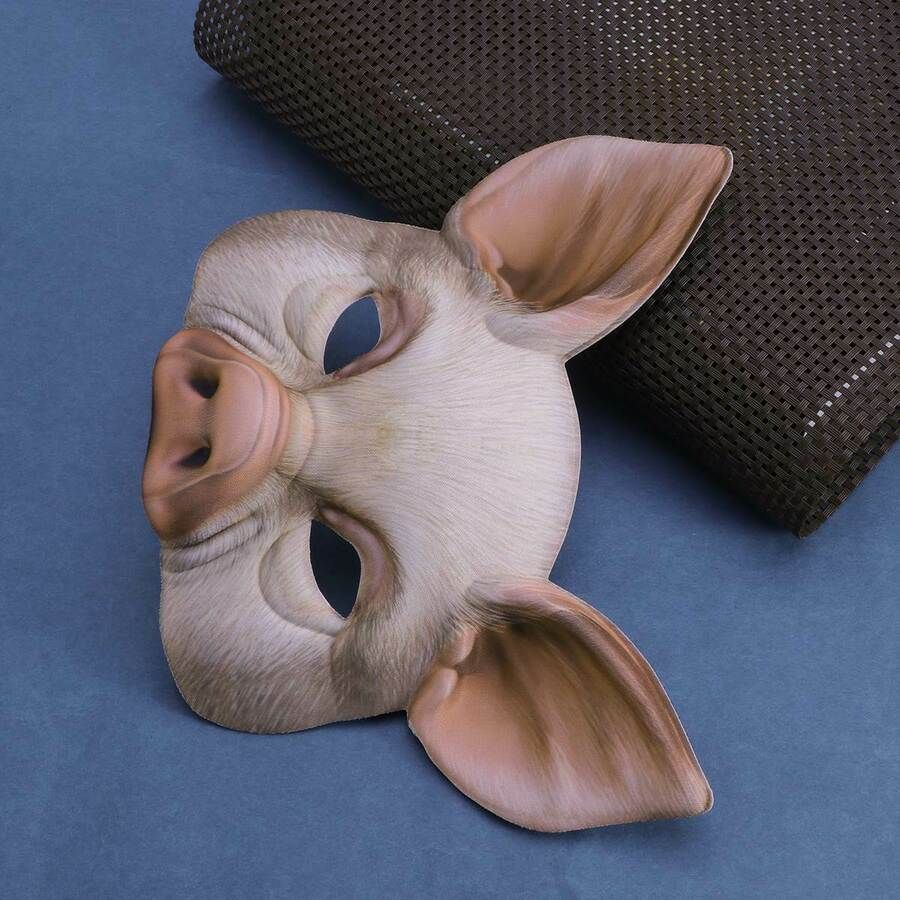 1pc Ball Mask Pig Half Face Party Mask for Halloween Festival Stage Performance