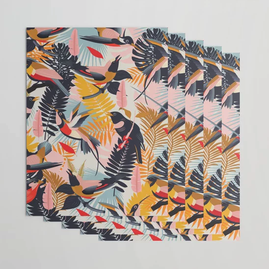 """""""Paradise Birds II."""" Wrapping Paper by matise on Society6 