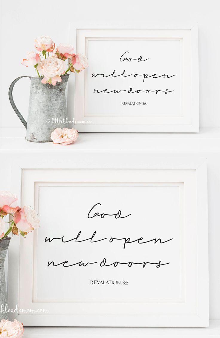 God will open new doors bible verse printable