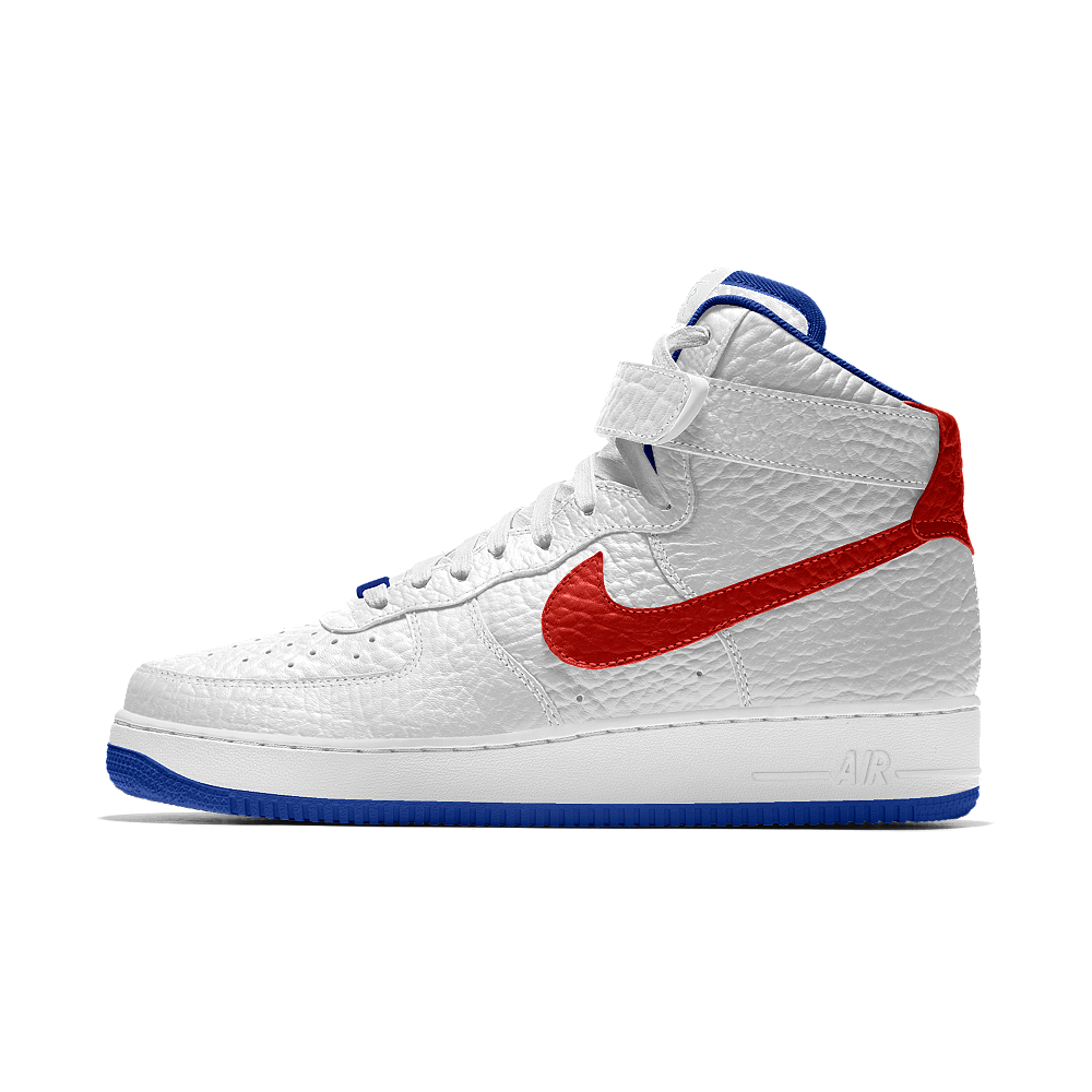 sale retailer 4e481 835da Nike Air Force 1 High Premium iD (Philadelphia 76ers) Men s Shoe Size 12.5 ( White)