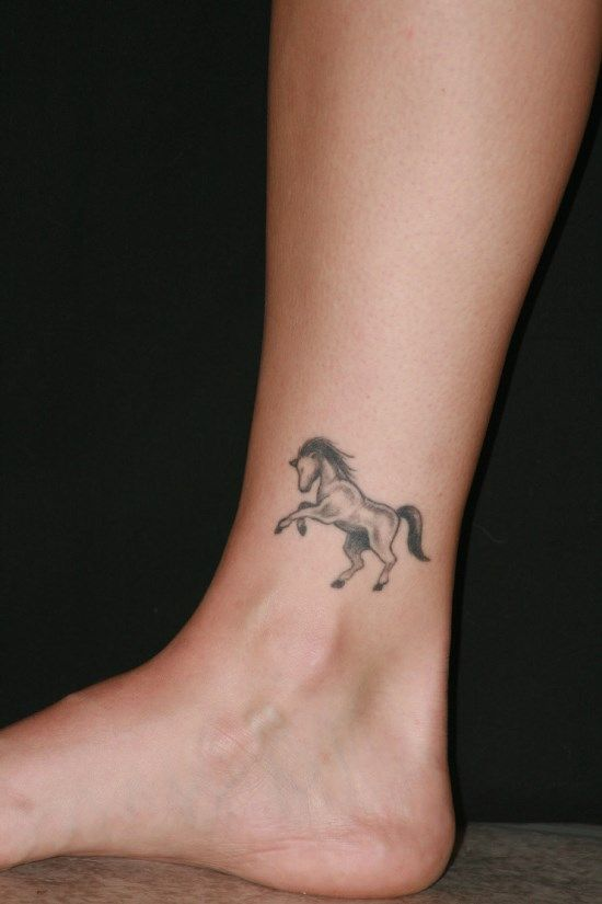 Beautiful Small Horse Ankle Tattoo Foot Hand And Smallish