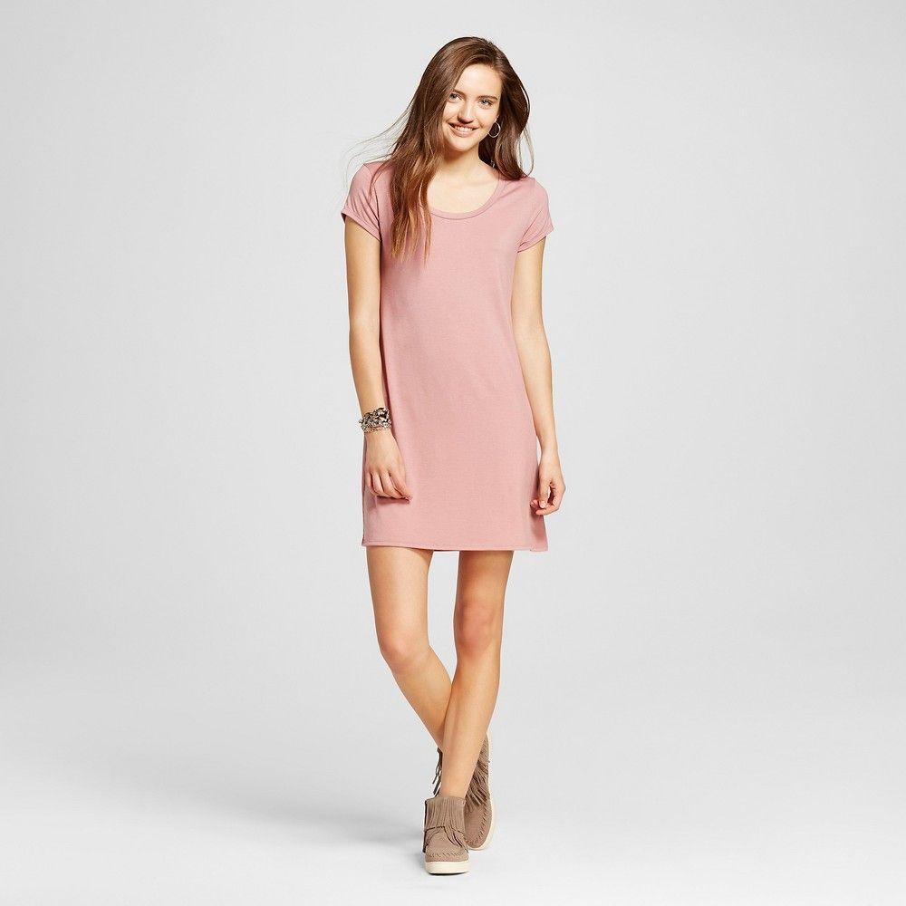 Womenus short tshirt dress pink xl mossimo supply co reducbr