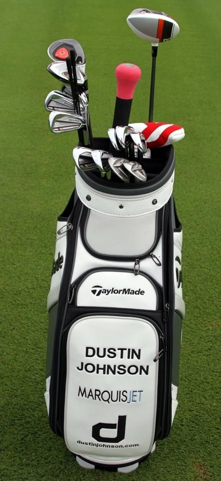 Dustin Johnson s winning TaylorMade Golf Bag of clubs at the Hyundai  Tournament of Champions dfd9e3ad3477f