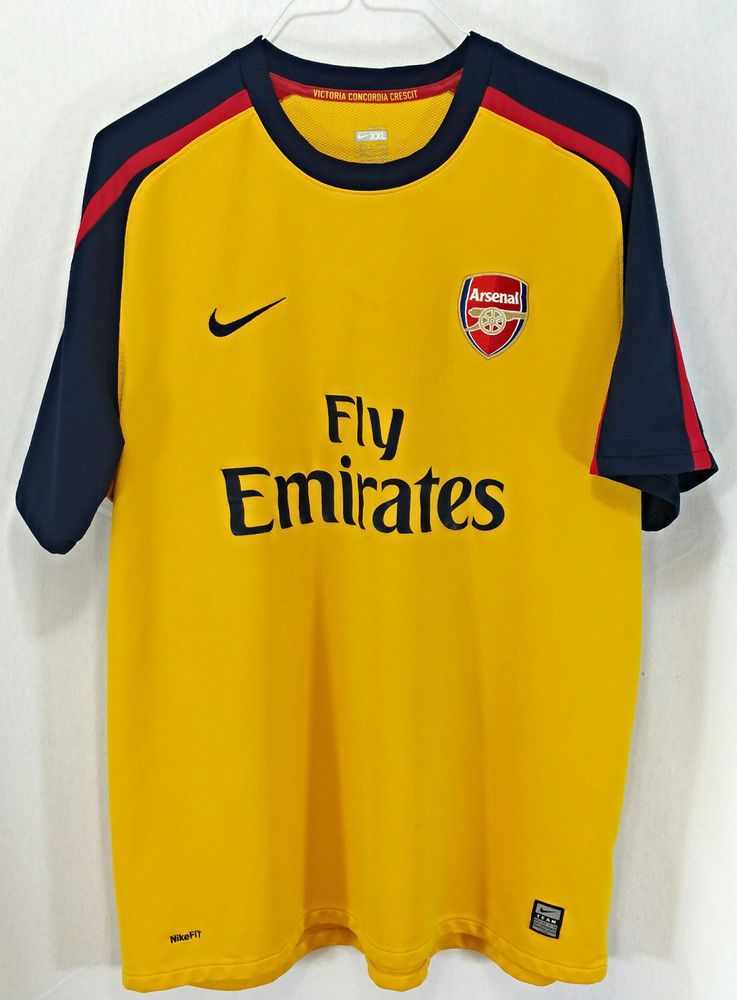 sale retailer b8c12 2e592 Details about Arsenal Fly Emirates Futbol Soccer Jersey Red ...