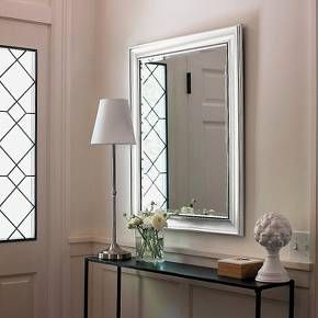 Get a good look with the Threshold™ Transitional Beaded Wall Mirror in silver. Make even the smallest of rooms look bigger and brighter with this large beaded mirror. This casual, traditional silver mirror is embellished with a beaded frame. You can hang it either horizontally or vertically depending on the space you have available. Get a quick update to your entryway, bathroom or dining area with this decorative wall mirror.