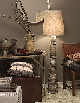 Stacked horn floor lamp by jamie young company natural elegance by stacked horn floor lamp by jamie young company aloadofball Image collections