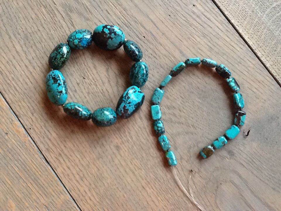 EARTH & SEA JEWELRY -  Turquoise work in progress