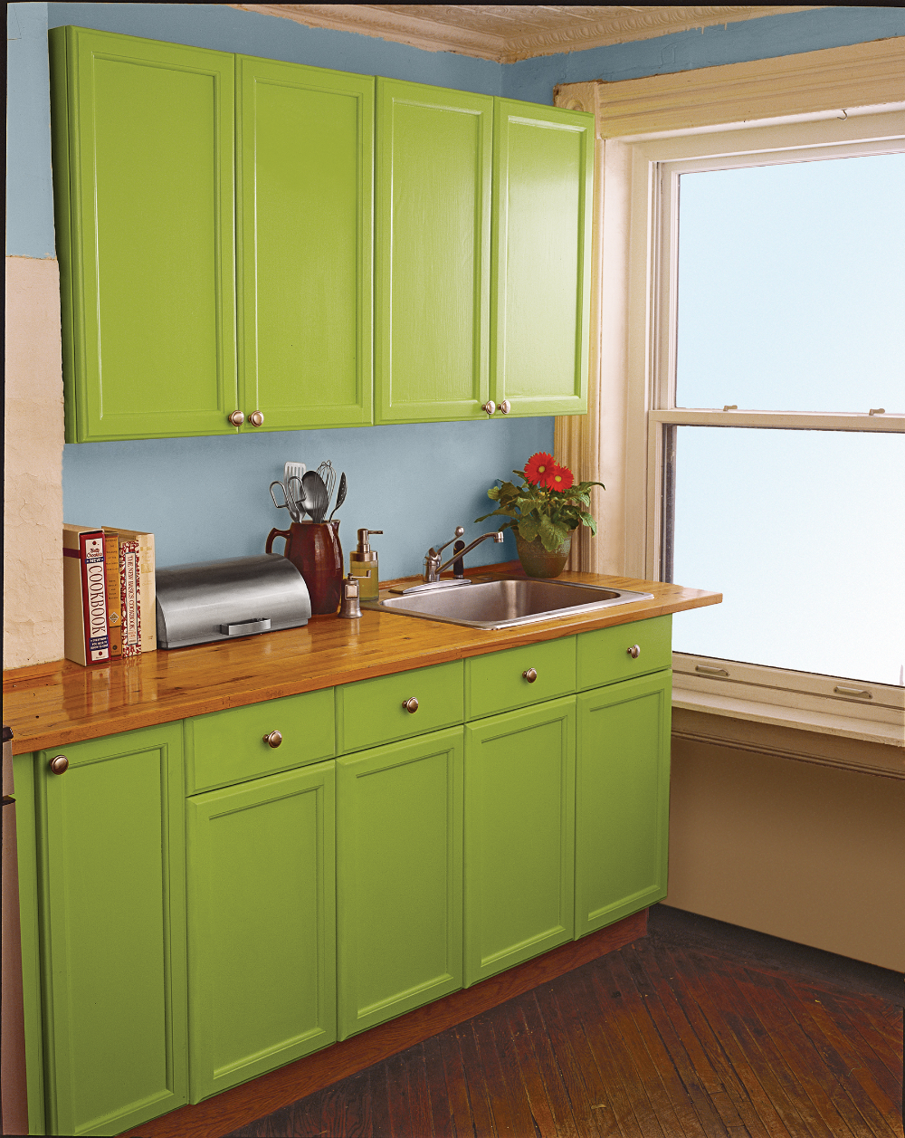 10 Ways to Spruce Up Tired Kitchen Cabinets - Update kitchen cabinets, Kitchen, Old kitchen cabinets, Kitchen cabinets, Kitchen paint, Cabinet - Hang kitchen cabinets to add storage, paint or reface old ones to refresh the look of your room, and more