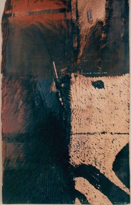 Takahiko Hayashi ~ D-10, 1988 (mixed media on wood)