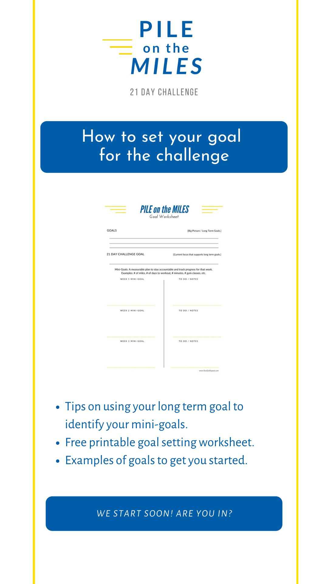 How To Set A Running Goal For Pile On The Miles Challenge