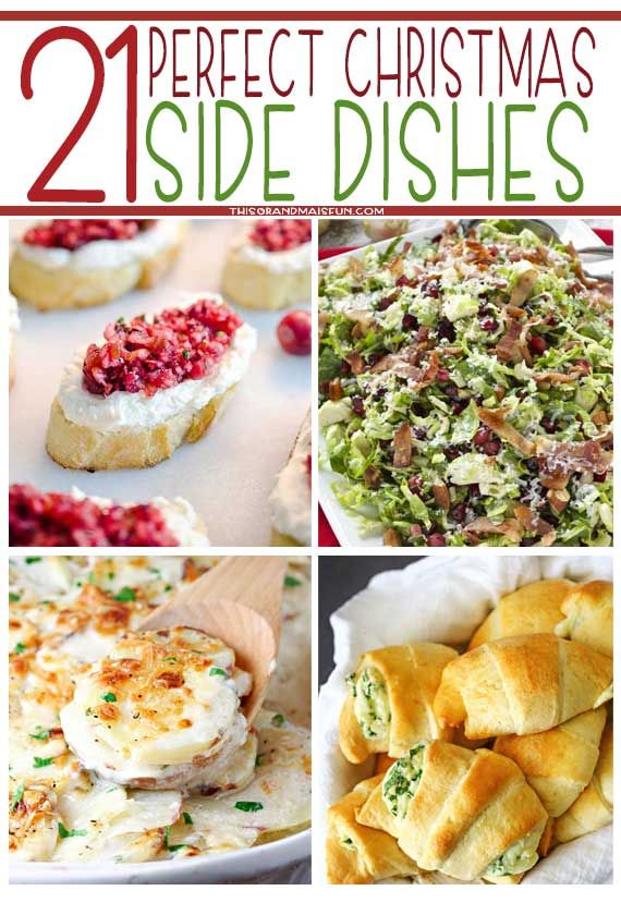christmas is a time for presents lights carols and food try out our list of 21 perfect christmas side dishes to help you out with christmas dinner - Christmas Side Dishes Pinterest