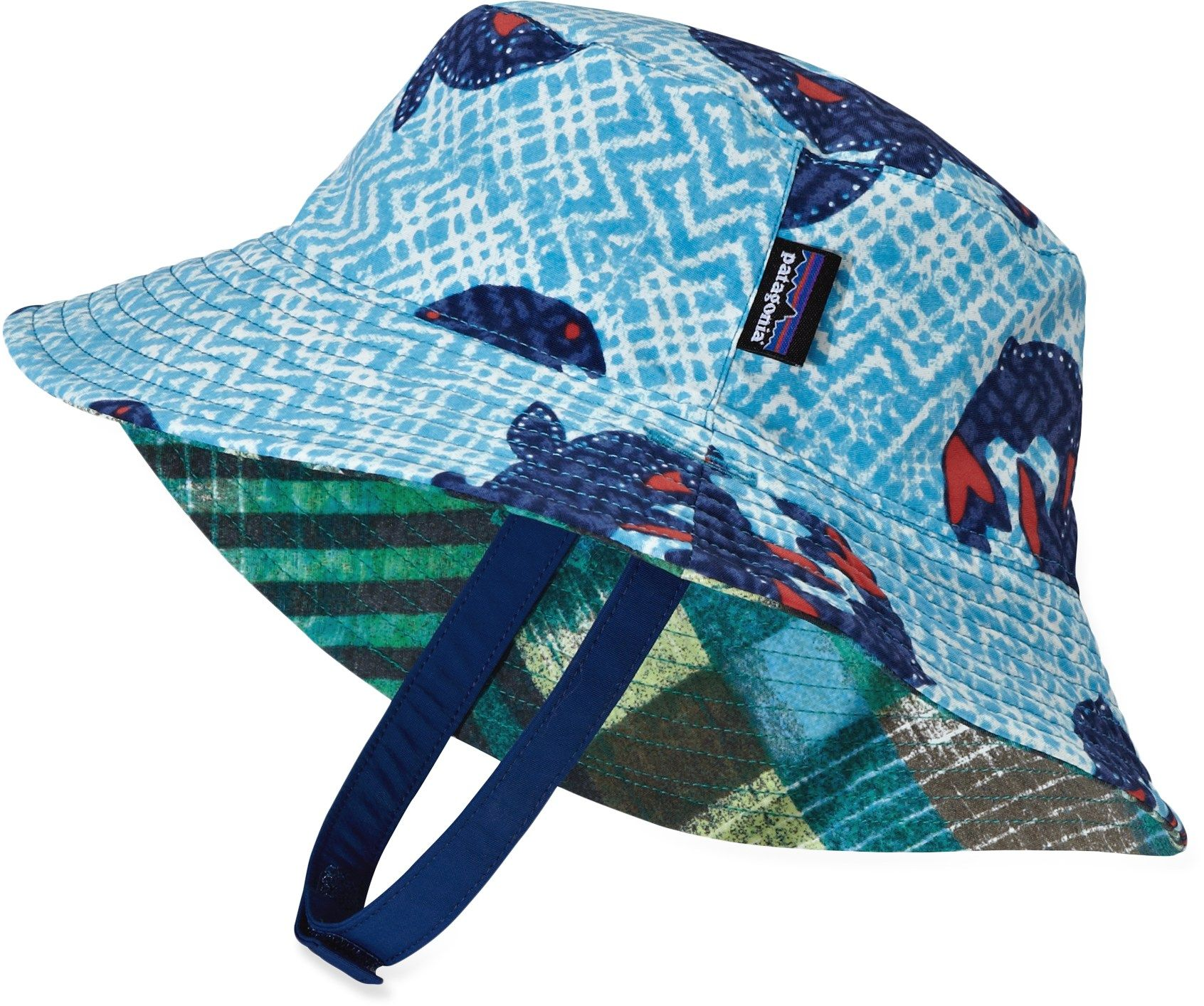61cb95b3a94 Patagonia Male Reversible Baby Sun Bucket Hat - Infant Toddler Boys ...