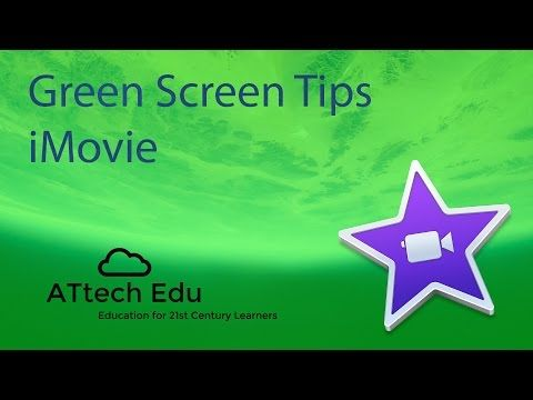How to use Green Screen with iMovie - Chroma Key - Special effects