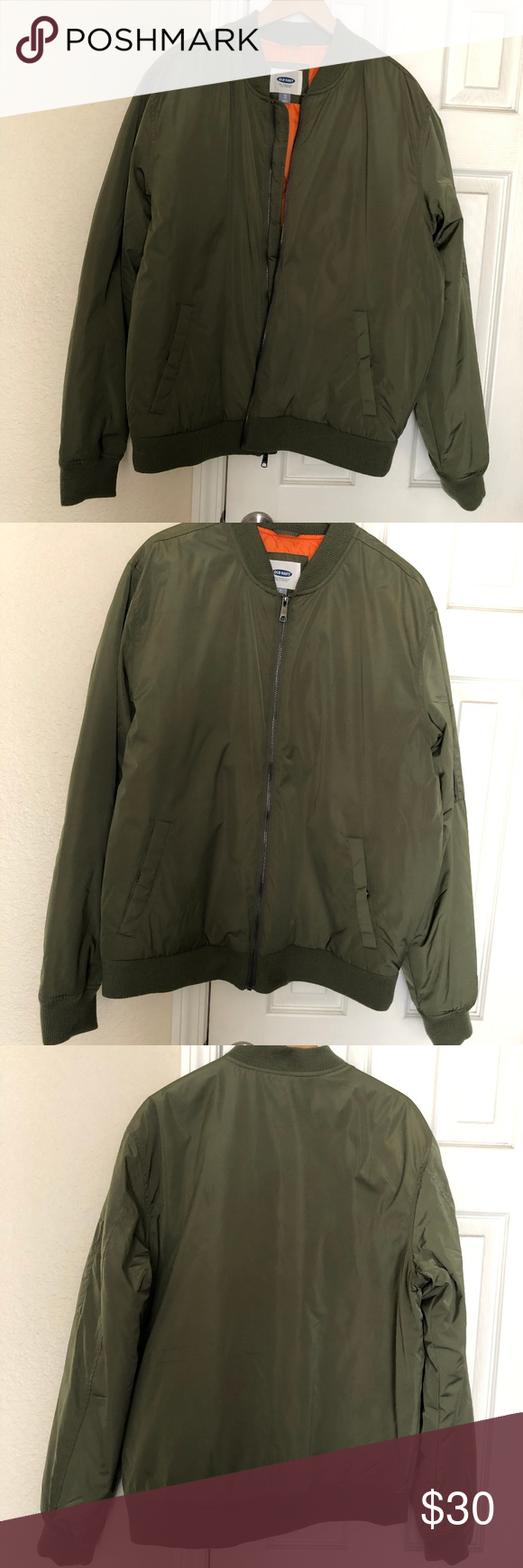 Men S Old Navy Green Bomber Jacket Men S Old Navy Green Bombet Jacket With Pockets And Zippered Pock Green Bomber Jacket Men Green Bomber Jacket Navy And Green [ 1740 x 580 Pixel ]
