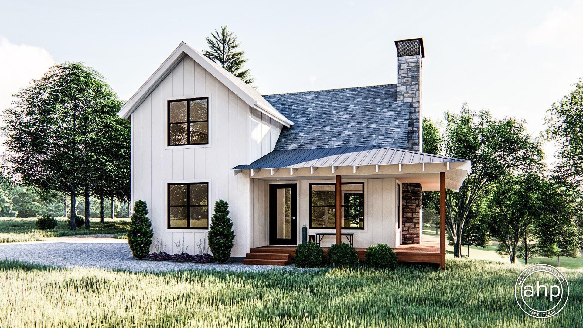 Modern Farmhouse Cabin Plan | Lilly | Small farmhouse plans ...