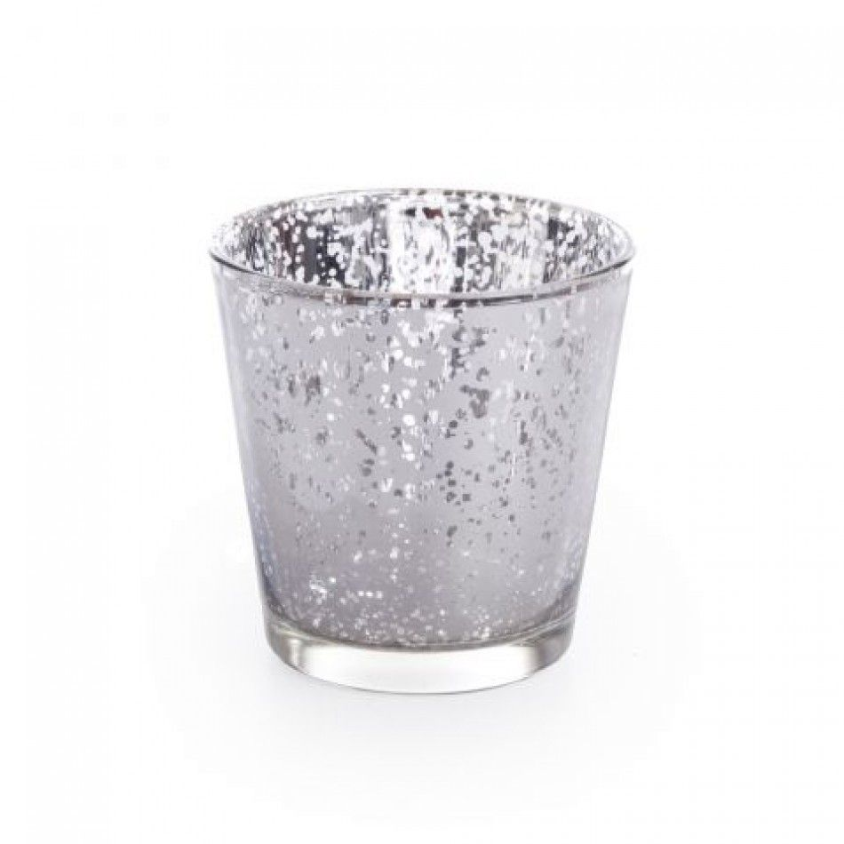 Glass Votive Candle Holders - 3 Aged Silver Votive Holders [758 ...