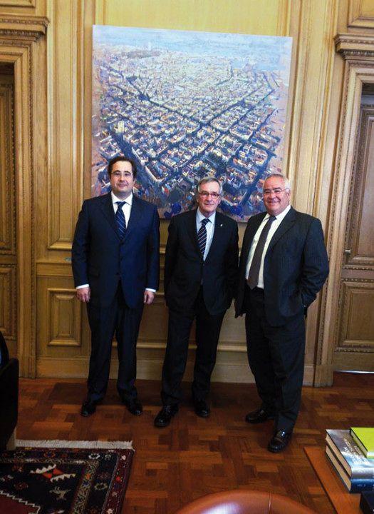 Mooring expone sus planes al alcalde de Barcelona