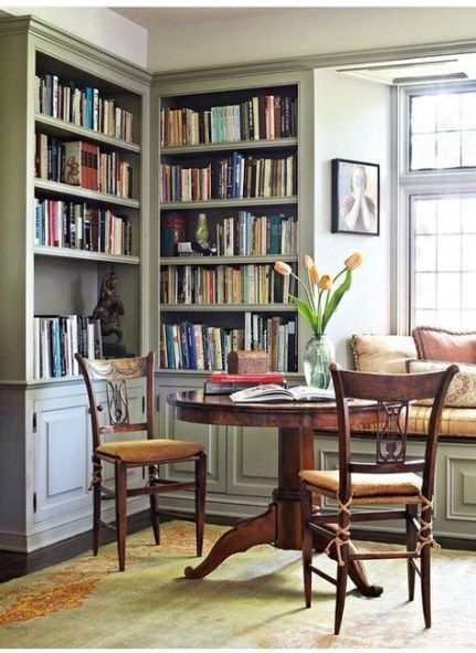 Window Seat Library: Home Library Corner Small Spaces Window Seats 38 Best