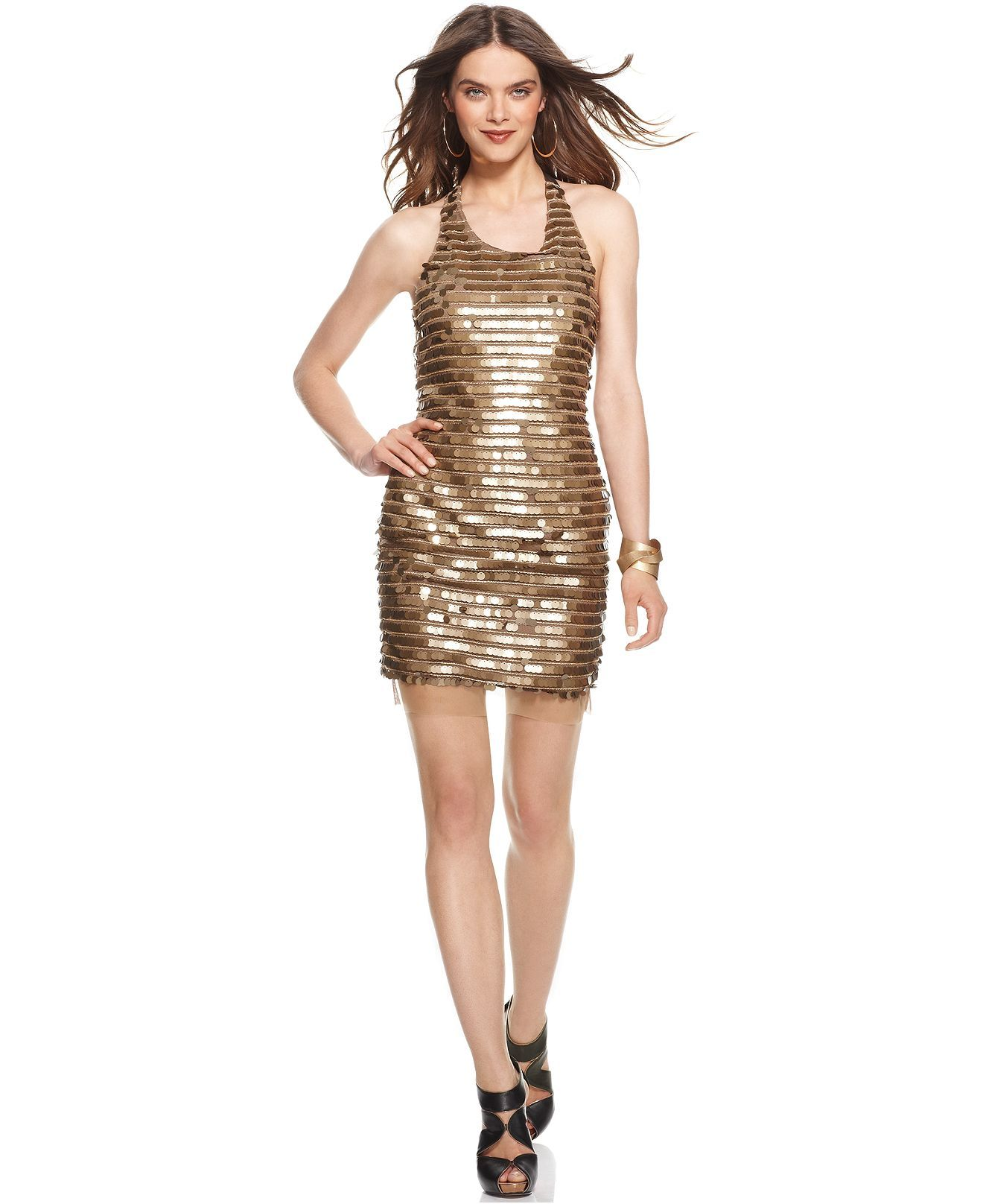 be42e8d0f BCBGMAXAZRIA Dress, Sleeveless Sequin Cocktail Dress - Womens Dresses -  Macy's. Slightly worried about the