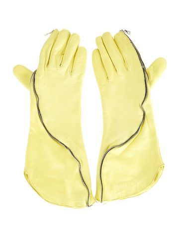 Imoni Leather Gloves with Zipper Detail