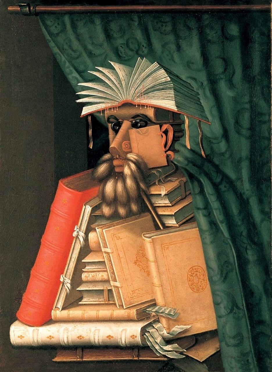 Giuseppe Arcimboldo, The Librarian, 1566, oil on canvas