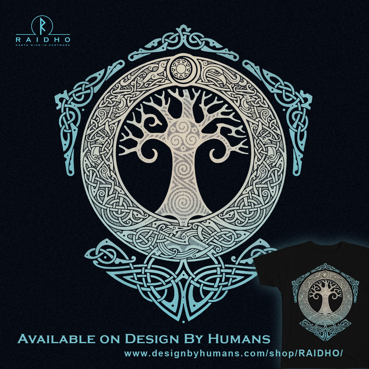 Yggdrasil Tree Of Life Men S Perfect Tee By Raidho Design By Humans Yggdrasil Tattoo Tree Of Life Tattoo Norse Tattoo