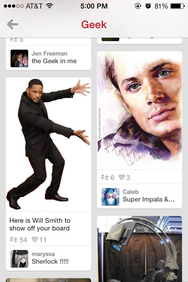 Will Smith showing off the beautiful face of Dean Winchester