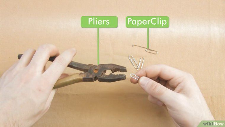 How To Pick A Lock Using A Paperclip 9 Steps With Pictures Paper Clip Lock Picked