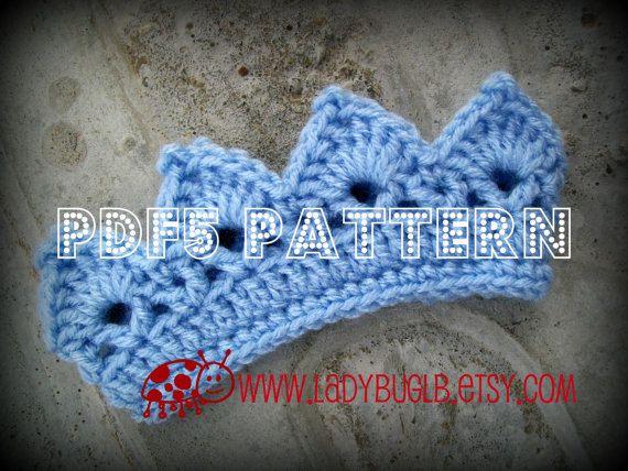 Mini Crown Crochet Pattern Pdf5 Instant Download Crown Crochet