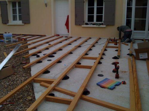 Construire une terrasse en bois sur terre Terasz Pinterest - construction terrasse en bois sur parpaing