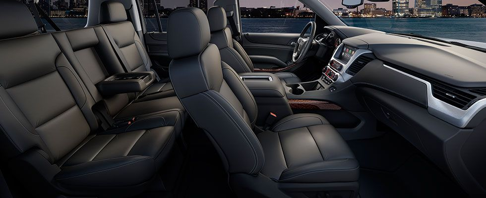 The 2015 Gmc Yukon Slt Interior Features Perforated Leather Appointed Heated And Cooled Front Row Seats And Heated Second Ro Gmc Yukon Yukon Denali Luxury Suv