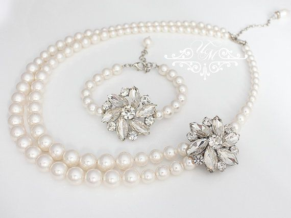 Wedding Jewelry Snowflake Wedding Set Single Strand Snowflake