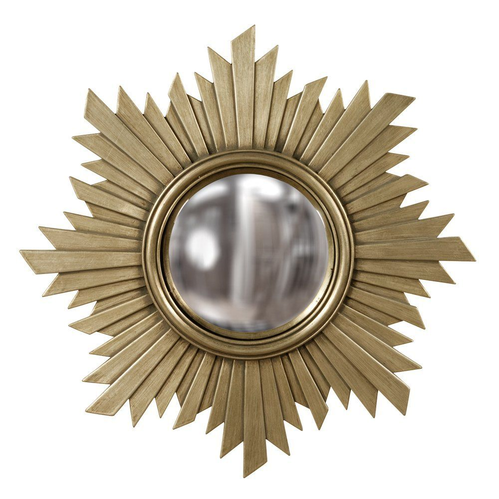 Howard Elliott 51268 Eurphoria Mirror, Brushed Nickel with Warm Gold Tones
