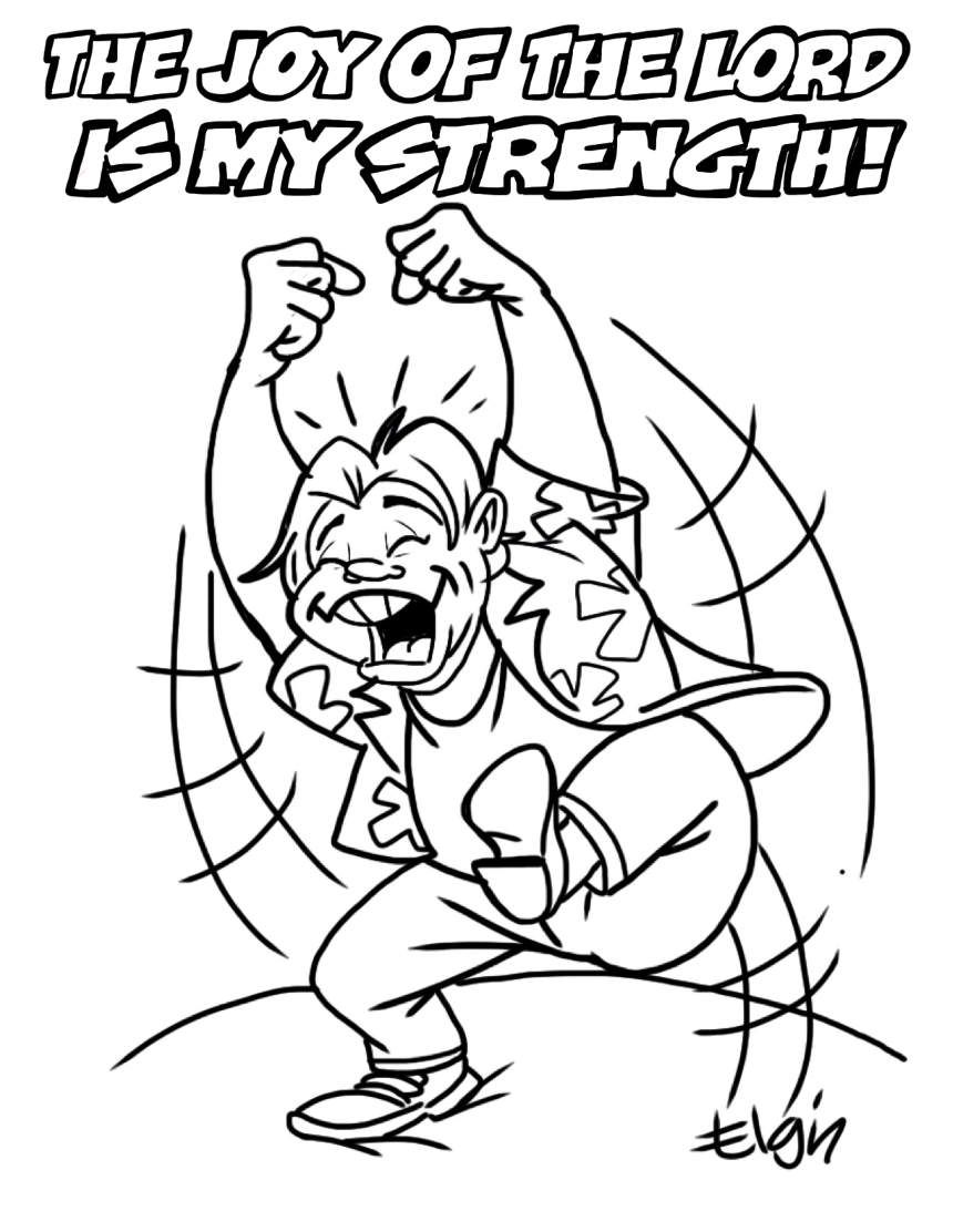 "Joy Coloring Page The Joy Of The Lord Is My Strength"" Cartoon & Coloring Page"