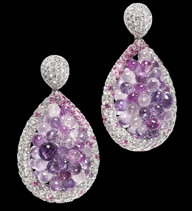Melody of colours ... White gold – Amethysts – Pink quartz – Pink sapphires – White diamonds