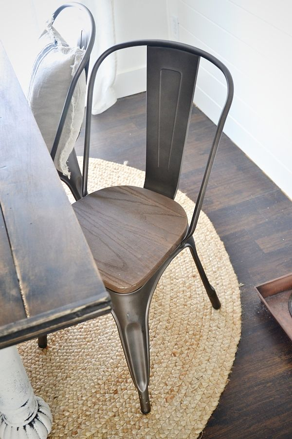 Good Rustic Metal U0026 Wood Dining Chairs With A Farmhouse Table.
